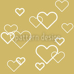 Heart Of Gold Seamless Vector Pattern Design