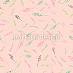 Whimsical Leaves And Twigs Design Pattern