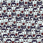 Vampire Dracula Seamless Vector Pattern Design