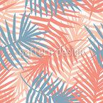 Manta de folha de palmeira Design de padrão vetorial sem costura