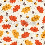 Warmer Und Gemütlicher Herbst Vektor Ornament