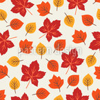 Autumnal And Cozy Leaves Seamless Vector Pattern Design