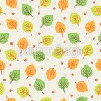Beeren Und Herbstlaub Nahtloses Vektor Muster