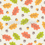 Autumnal Leaves Fall Seamless Vector Pattern Design