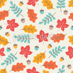 Autumnal Leaves In Warm Breeze Repeat Pattern