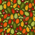 Fröhliches Herbstlaub Muster Design