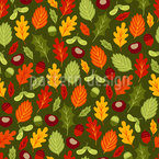 Happy autumn leaves Seamless Vector Pattern Design