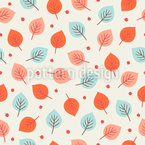 Autumn Leaves And Berries Vector Ornament