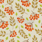 Sea Buckthorn Berries Seamless Pattern