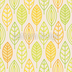 Stylized Autumn Leaves Seamless Vector Pattern