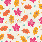 Colorful Autumnal Leaves Vector Pattern