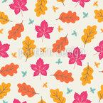 Farbenfrohe Herbstblätter Nahtloses Vektormuster