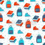 Sneackers And Books Seamless Pattern