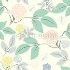 Summer Field Seamless Vector Pattern Design