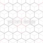 Hexagone Oder Würfel Nahtloses Vektormuster