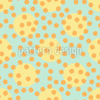 Chaotic Polka Dots Vector Ornament