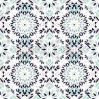 Arabescos Flamboyant Design de padrão vetorial sem costura