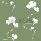 Romantisches Blumenmuster Grün Nahtloses Vektormuster
