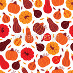 Pumpkin Variations Seamless Vector Pattern Design