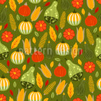 Harvest Time Of The Pumpkins Seamless Vector Pattern Design