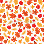 Autumnal Harvest Seamless Vector Pattern Design