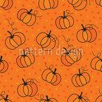 Cartoon Pumpkins Seamless Vector Pattern Design