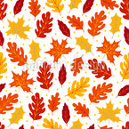 Abstract Autumnal Leaves Seamless Vector Pattern Design