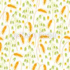 Hafer Und Weizen Nahtloses Vektormuster