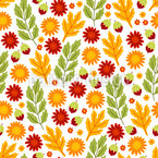 Sunny Autumn Plants Design Pattern