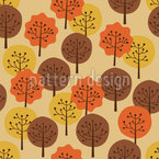 Autumn Forest Vector Ornament