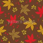 Verteilte Herbstblätter Nahtloses Muster