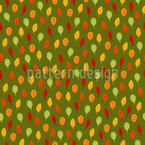 Bright Autumn Leaves Seamless Vector Pattern Design