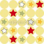 Sterne Und Kreise Nahtloses Vektormuster