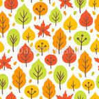 Bright Autumn Forest Vector Design