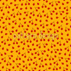 Herbstliche Beeren Zweige Rapportiertes Design