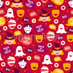 Happy Halloween Vibes Seamless Vector Pattern Design