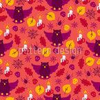 Halloween Eule Nahtloses Muster