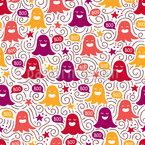 Halloween Geister Nahtloses Vektor Muster