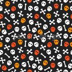 Halloween Totenkopf und Knochen Rapportiertes Design
