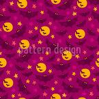 Noite de Halloween Design de padrão vetorial sem costura