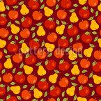 Früchte Im Herbst Nahtloses Vektormuster
