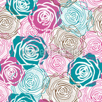 Dreams Of Roses Seamless Vector Pattern Design