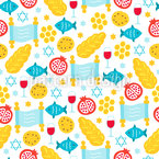 Rosh Hashanah Seamless Vector Pattern Design