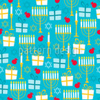 Menorah Seamless Vector Pattern