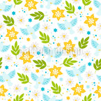 Doves Branches And Flowers Vector Pattern