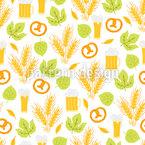 Weizenblätter Und Brezeln Vektor Design