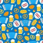Oktoberfest Würstel Rapportiertes Design