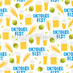 Cute Oktoberfest Seamless Vector Pattern Design