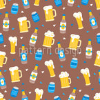 Octoberfest Beer Seamless Vector Pattern Design