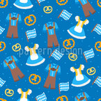 Traditional Alpin Dress Seamless Vector Pattern Design